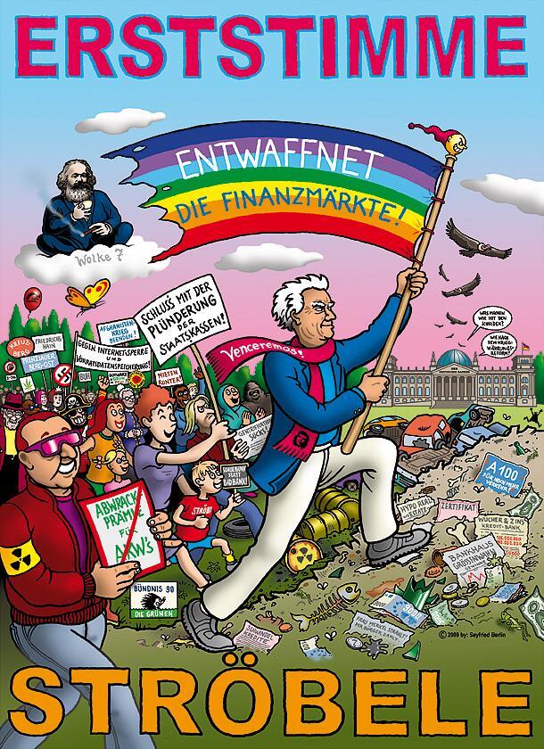 Bild zu Ströbele-Wahlplakat