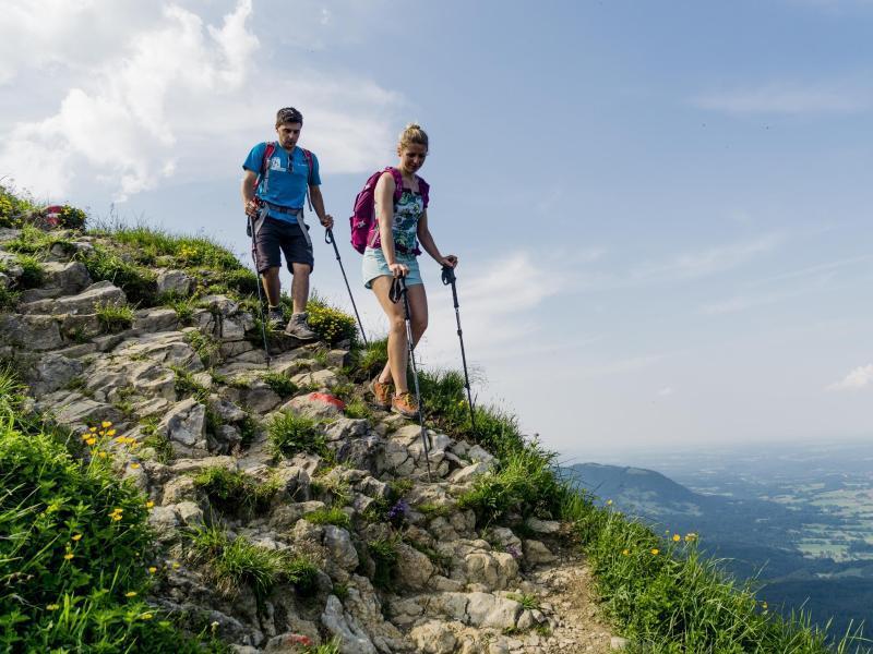 Bild zu Wanderer in den Bergen
