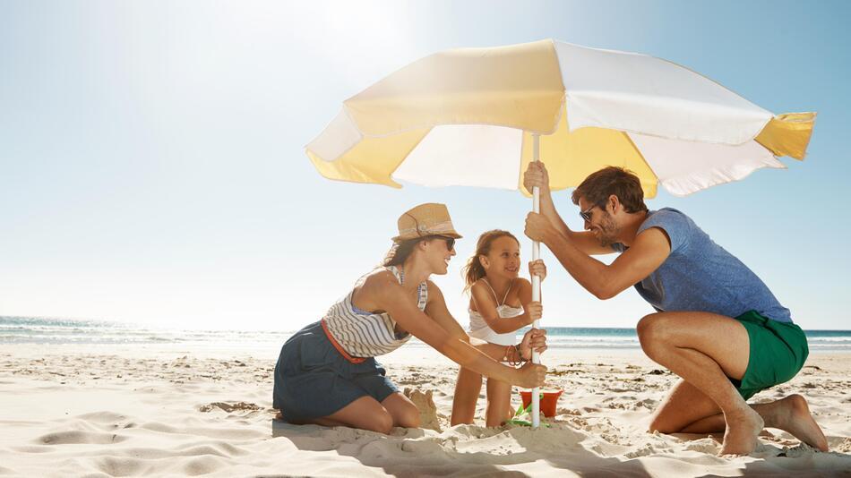 urlaub, strand, uv-schutz, strandausstattung, sand, liege, strandmatte, strandmuschel, badeschuhe