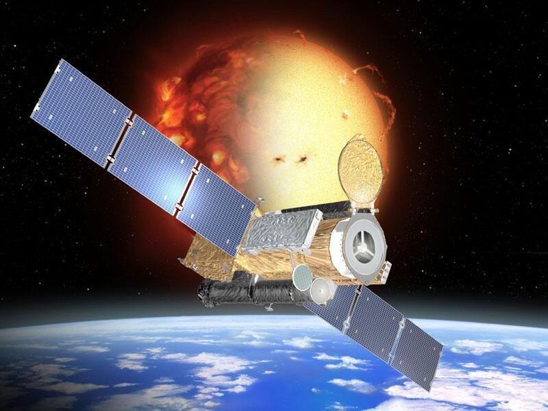 Bild zu Weltraumsatellit Hinode