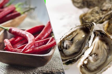 Chili und Austern als Potenzmittel
