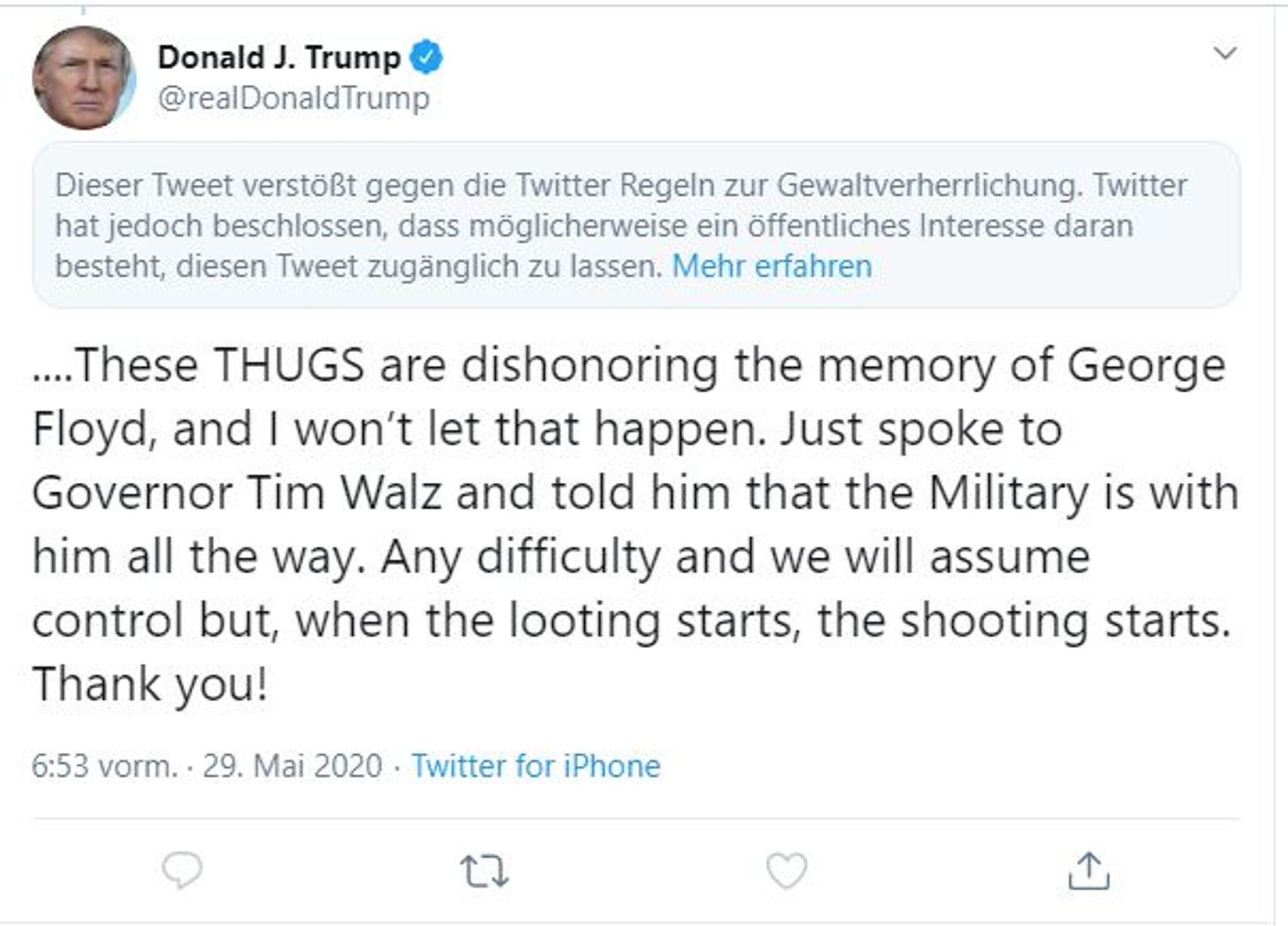 Bild zu Trump Tweet