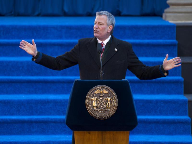 Bild zu New Yorks Bürgermeister Bill de Blasio