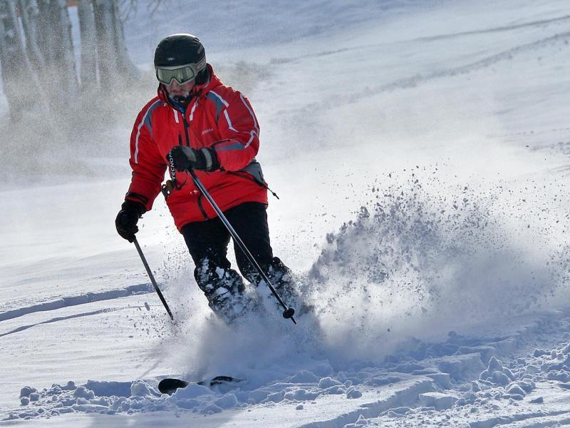 Bild zu Skifahrer auf der Piste