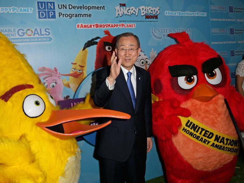 Bild zu Ban Ki-moon und Angry Birds