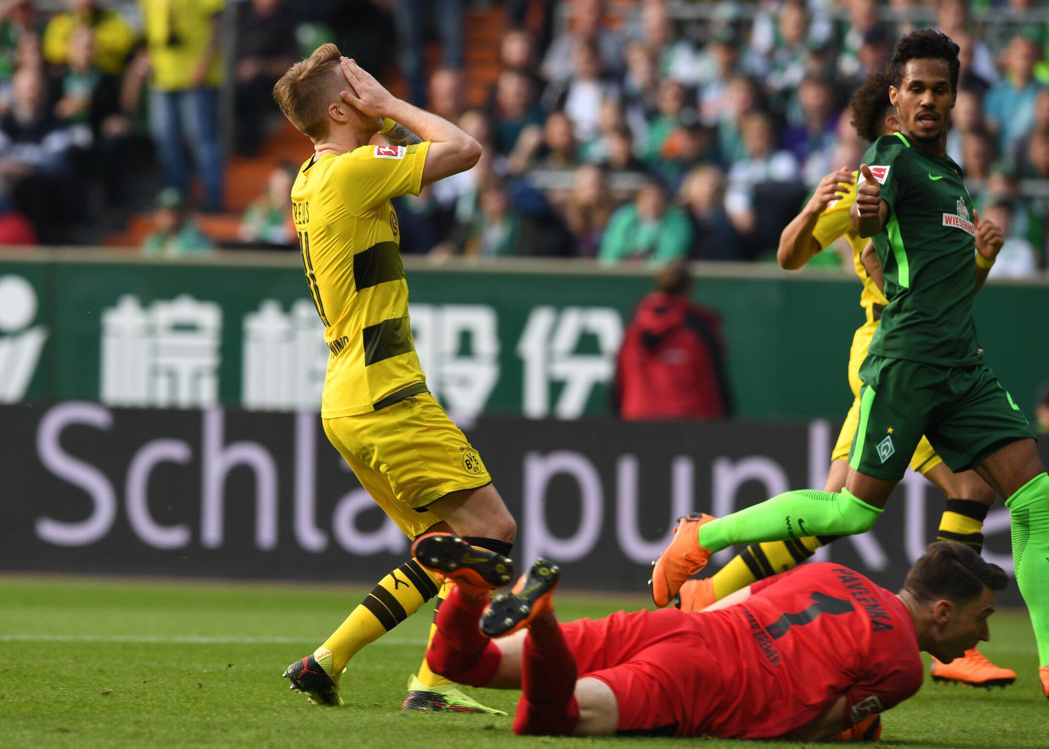 Bild zu Werder Bremen - Borussia Dortmund, Borussia Dortmund, Marco Reus, Bundesliga, 32. Spieltag