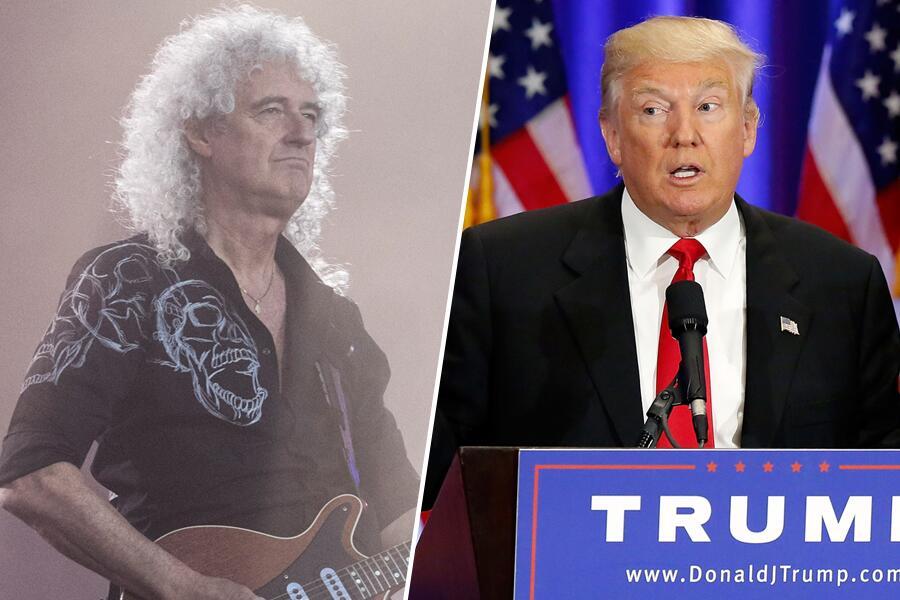 Bild zu Brian May und Donald Trump