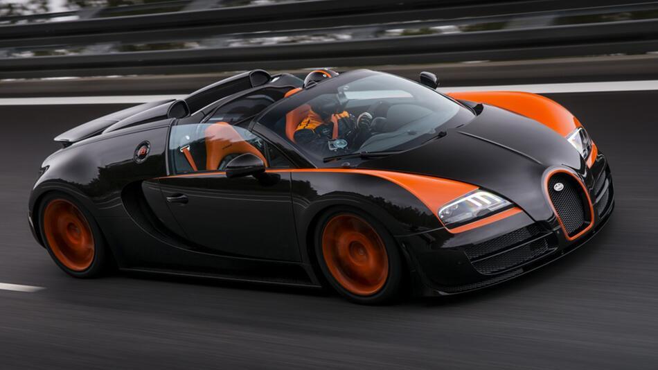 Bugatti Veyron 16.4 Grand Sport Vitessse: Fuhr offen 408,84 km/h - Weltrekord!