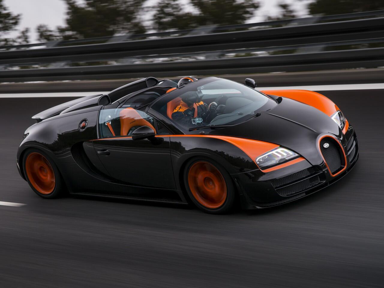 Bild zu Bugatti Veyron 16.4 Grand Sport Vitessse: Fuhr offen 408,84 km/h - Weltrekord!