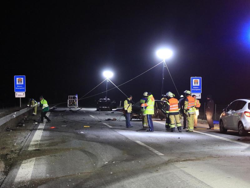Bild zu Unfall auf Autobahn