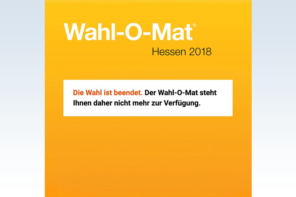 Wahl-O-Mat Hessen 2018 beendet