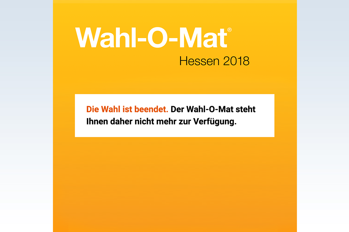 Bild zu Wahl-O-Mat Hessen 2018 beendet