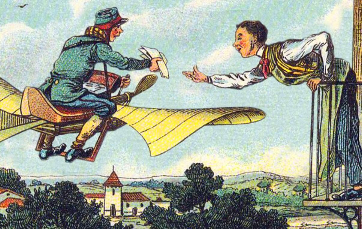 Bild zu Fliegender Postbote