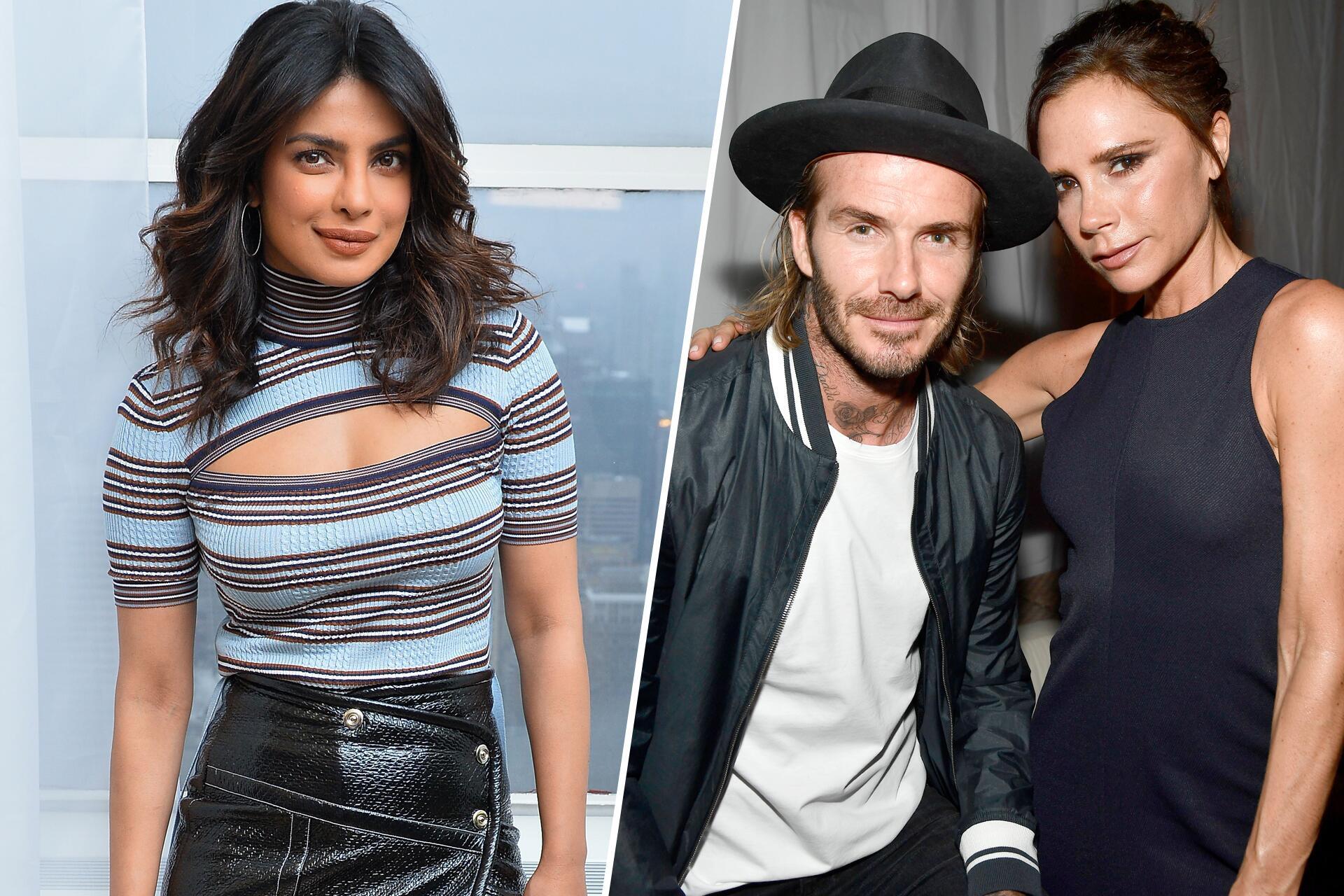 Bild zu Priyanka Chopra, David Beckham, Victoria Beckham