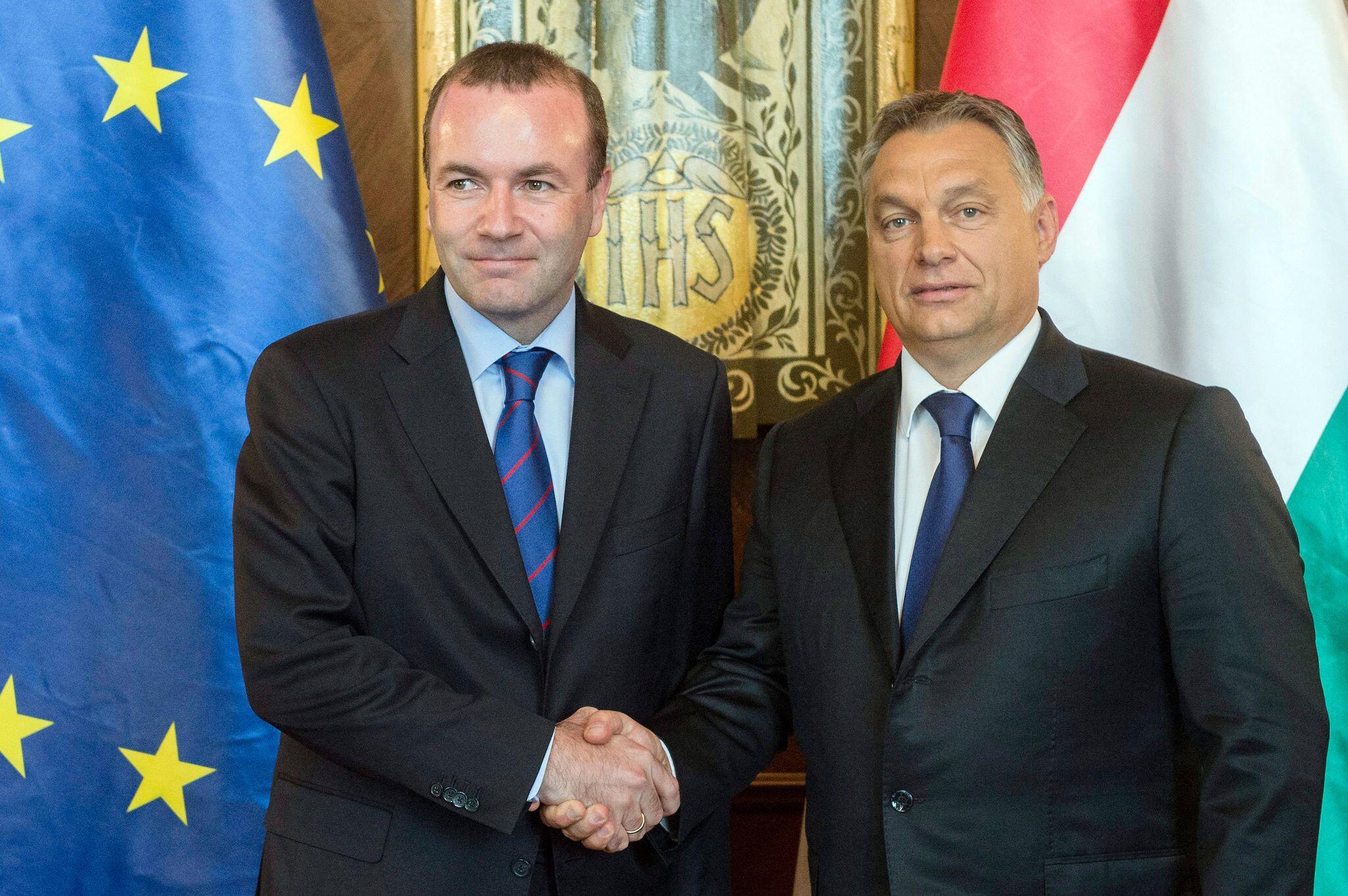 Bild zu Viktor Orban und Manfred Weber