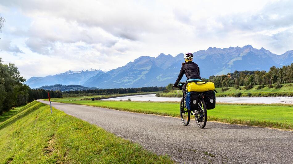 Fahrrad, Urlaub, Satteltasche, Gepäck, Anhänger