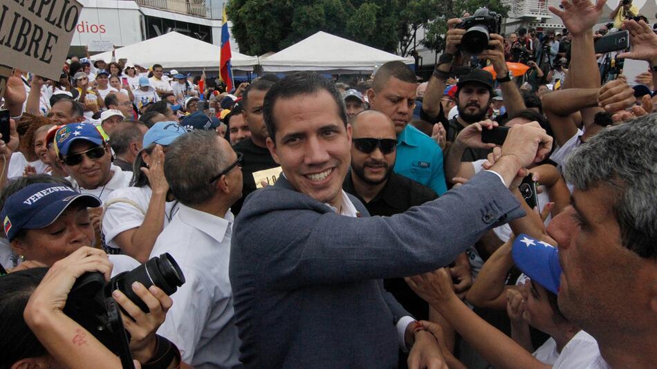 Demonstration, Juan Guaido, Venezuela, Caracas, Putsch, Umsturz, Nicolas Maduro