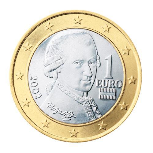 Bild zu 1-Euro-Münze aus Österreich