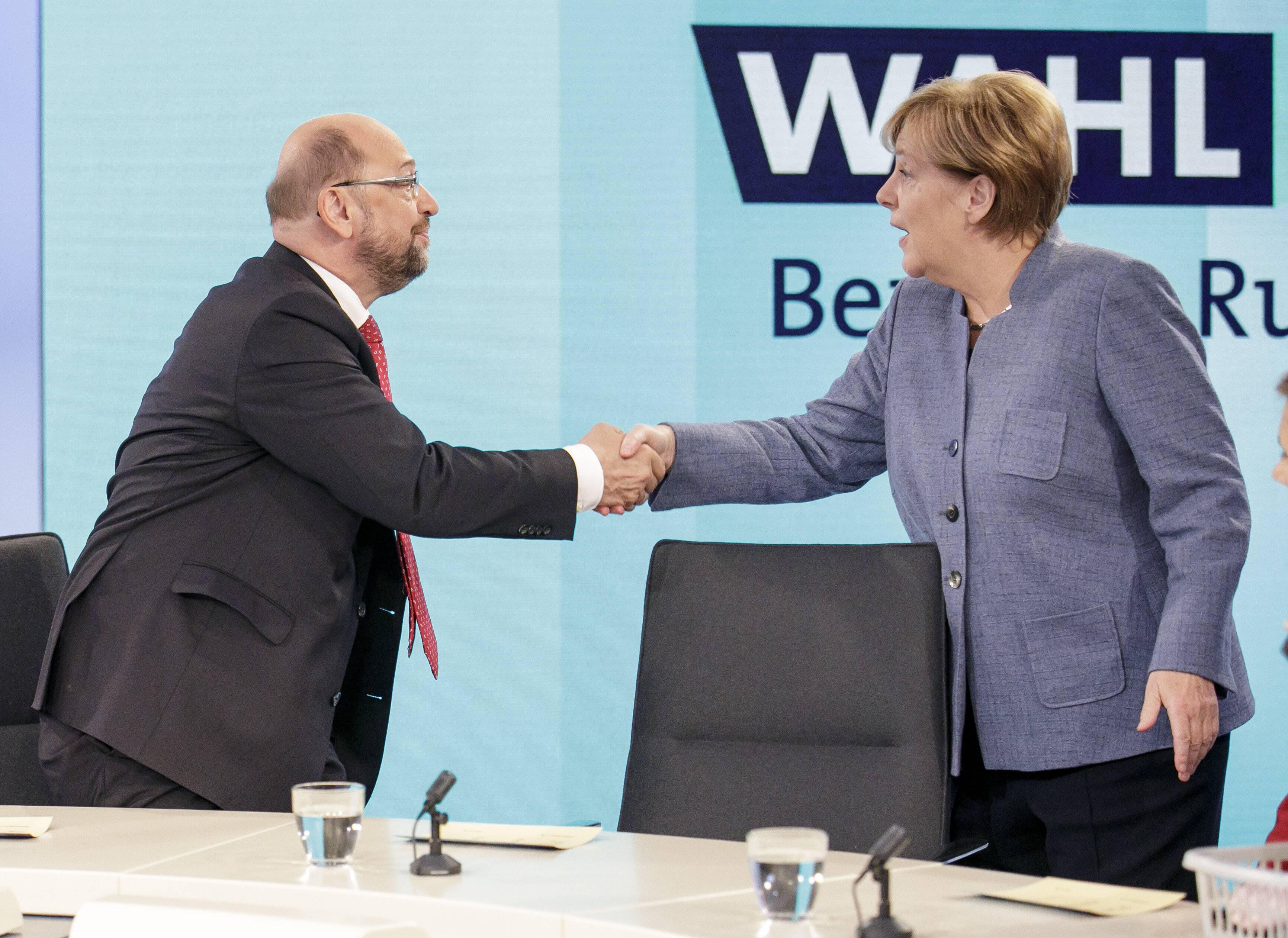 Bild zu SPD, CDU, Bundestagswahl, GroKo, Martin Schulz, Angela Merkel