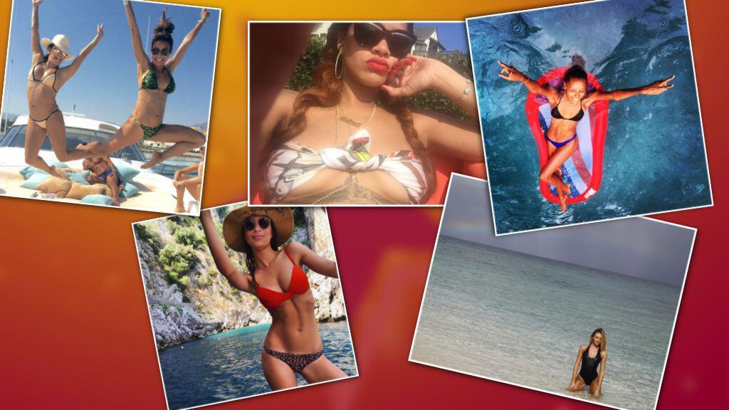 Bild zu Der Sommer ist da - und die weiblichen Stars zeigen sich in ihren Zweiteilern.