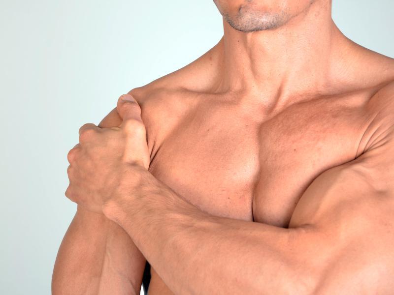 Bild zu Kalkeinlagerungen um die Schultersehnen