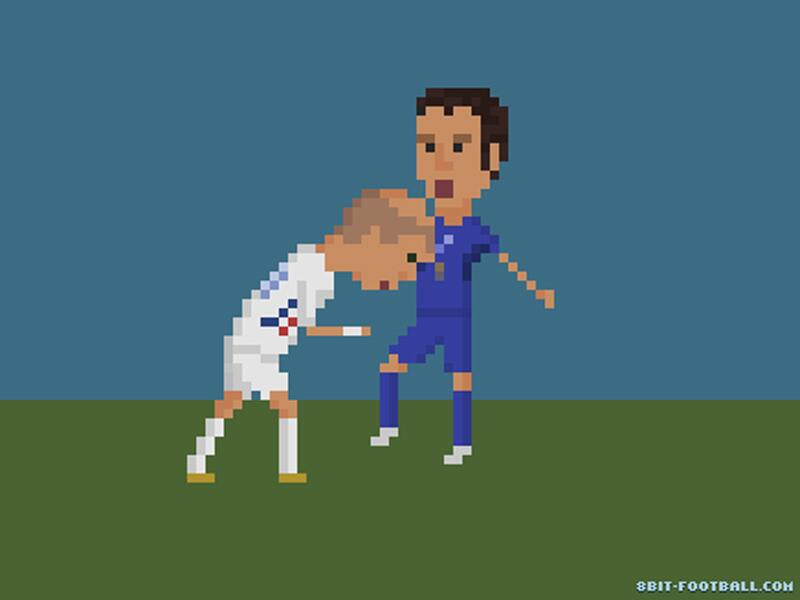 Bild zu Zidane's Kopfstoß gegen Materazzi bei der WM 2006