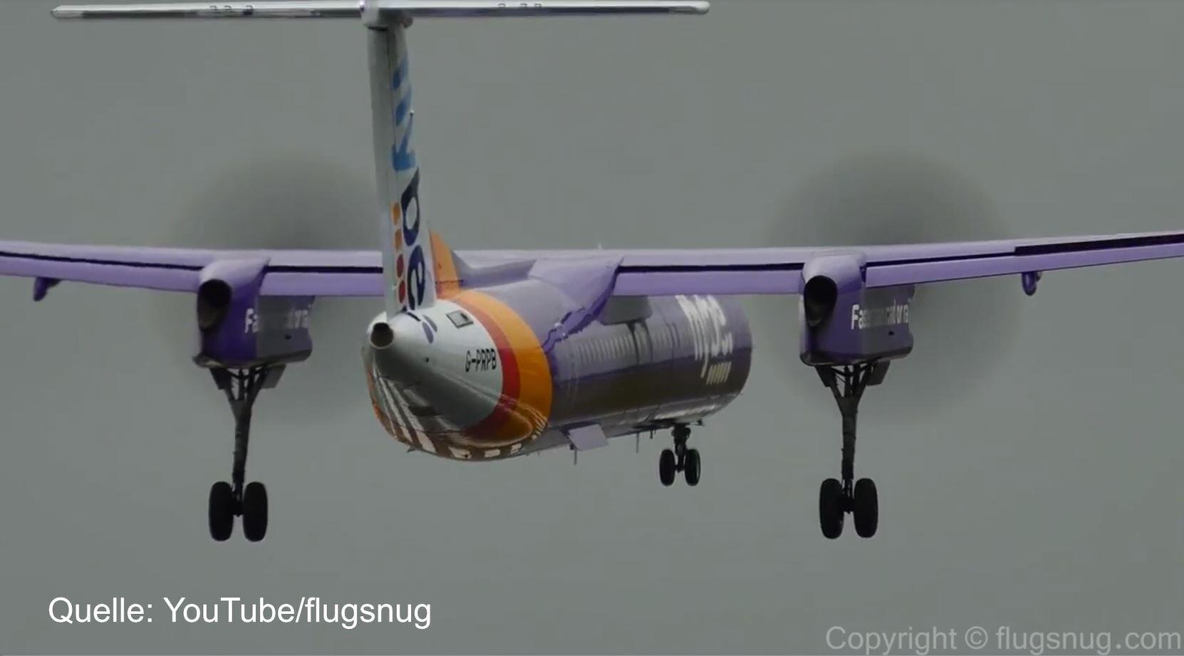Bild zu Flugzeug Landung