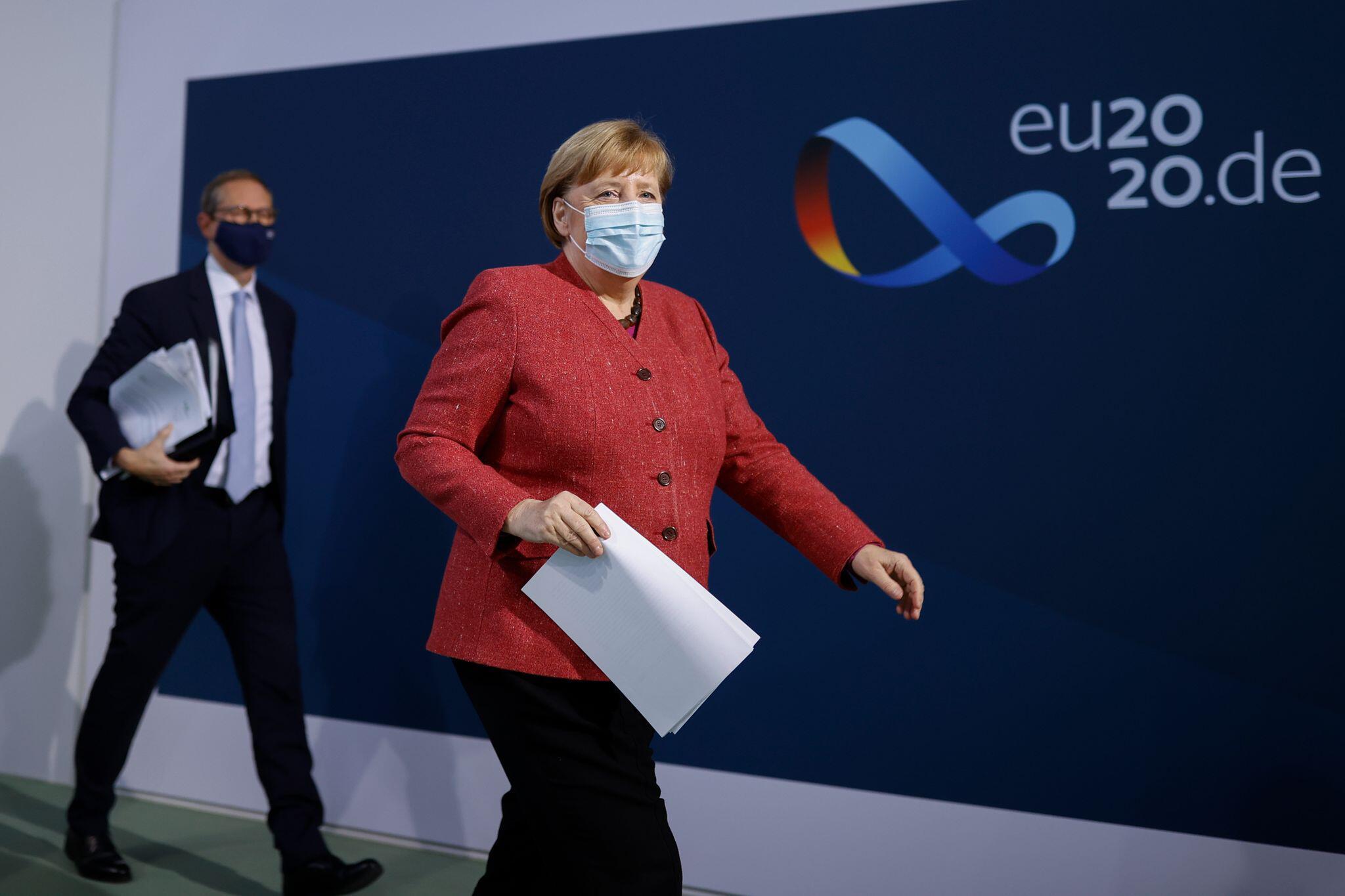 Bild zu Nach Videokonferenz von Bundeskanzlerin und Ministerpräsidenten