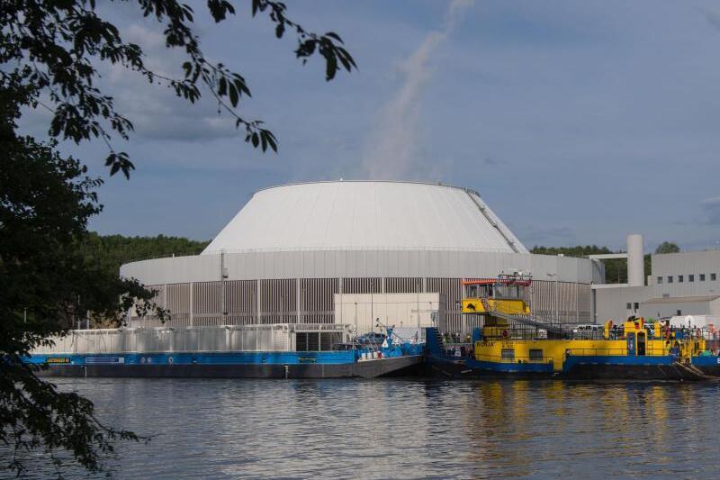 Atommüll-Transport in Neckarwestheim angekommen