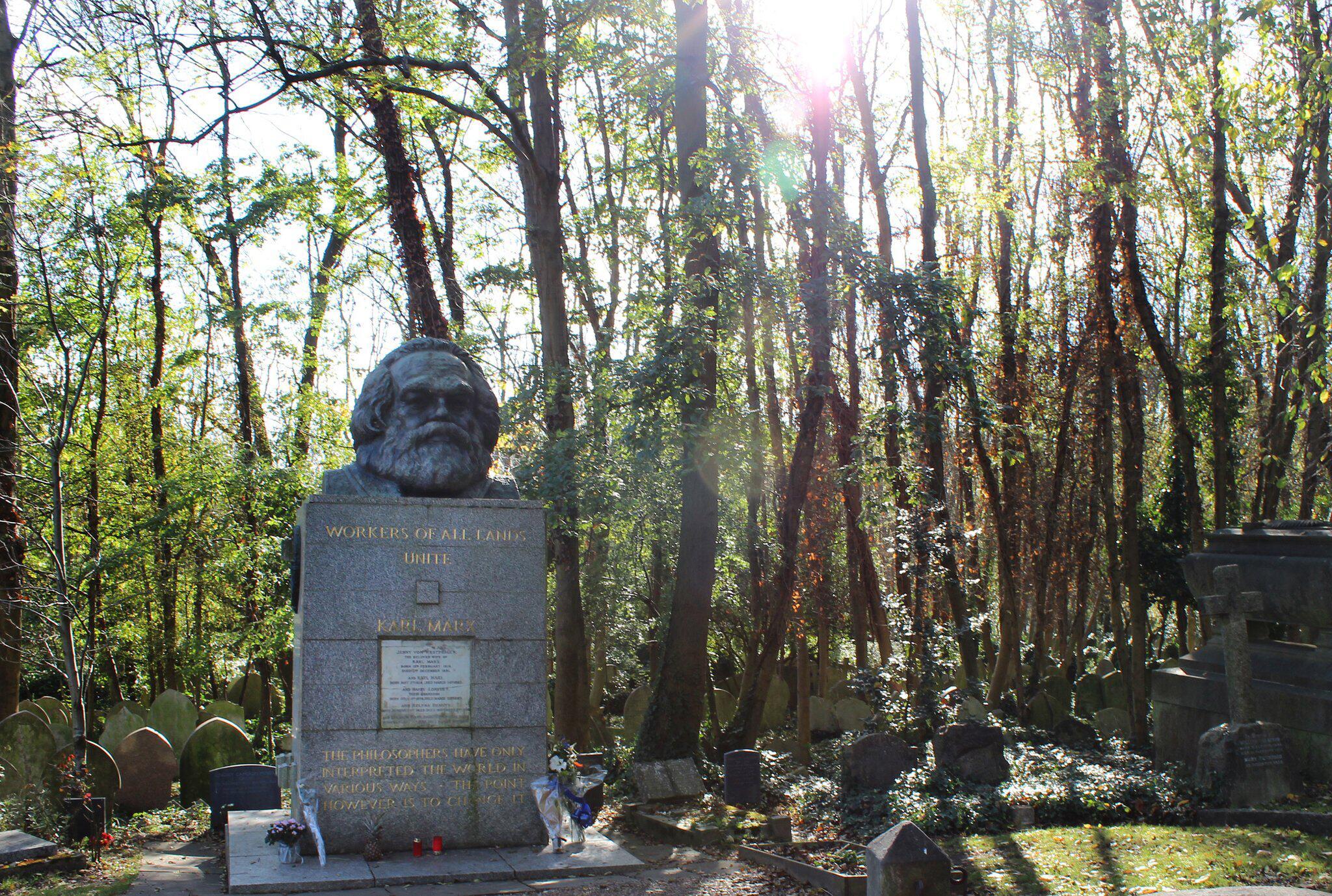 Bild zu Das Grab von Karl Marx in London