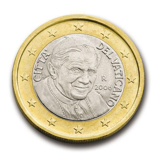 Bild zu 1-Euro-Münze aus dem Vatikan