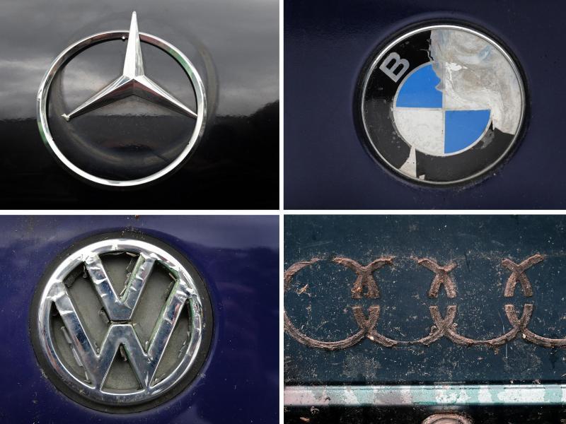Bild zu Logos von Mercedes, BMW, VW und Audi