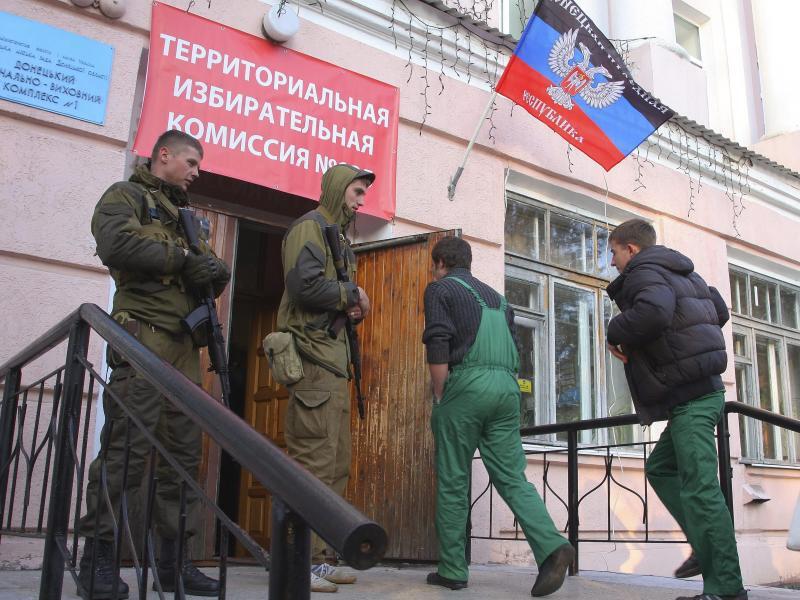 Bild zu Wahllokal in Donezk