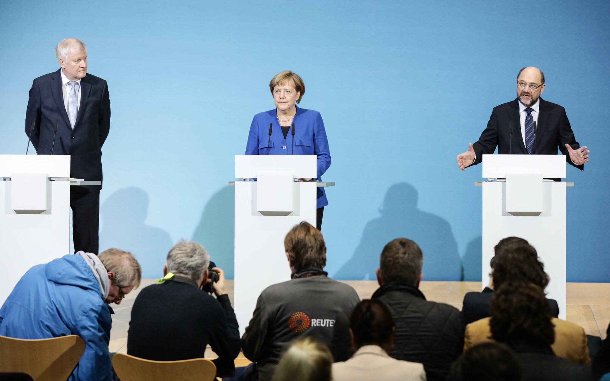 Bild zu Abschluss der Sondierungen von Union und SPD