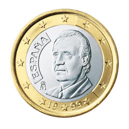 Bild zu 1-Euro-Münze aus Spanien