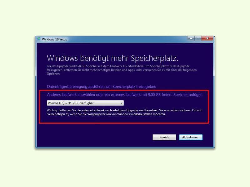 Bild zu Windows-10-Setup auslagern