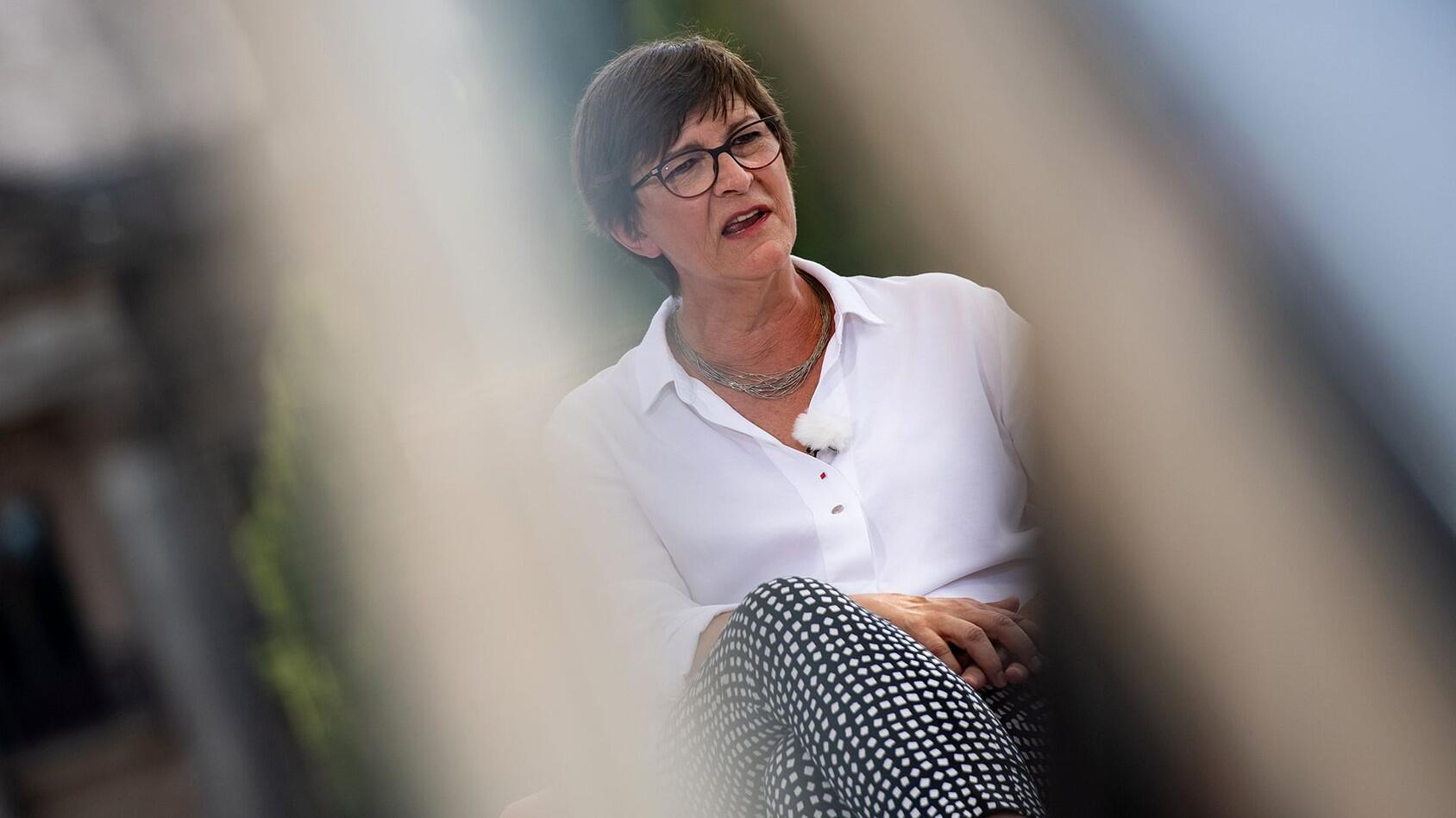 Bild zu ARD-Sommerinterview mit SPD-Chefin Esken