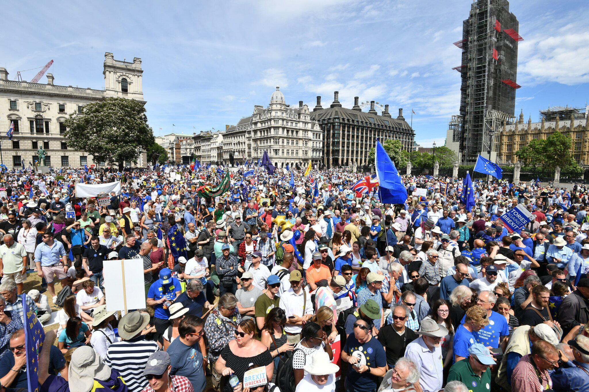 Bild zu Protest gegen den Brexit in London