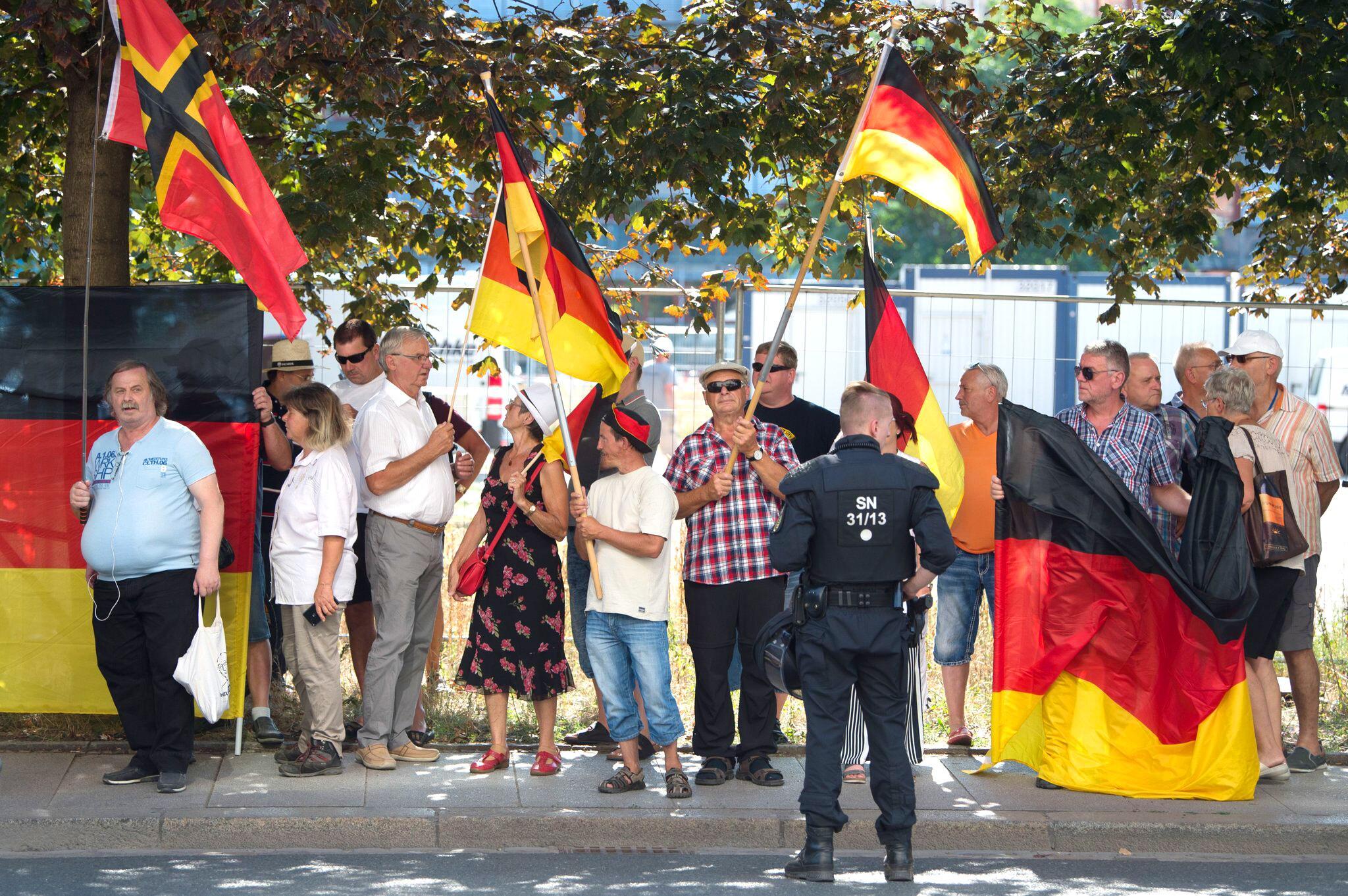 Bild zu Pegida-Demonstration in Dresden